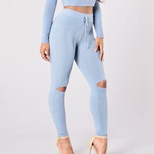 Fn blue leggings
